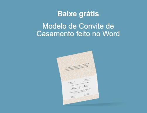 Downloads Modelo De Convite De Casamento Feito No Word Casando