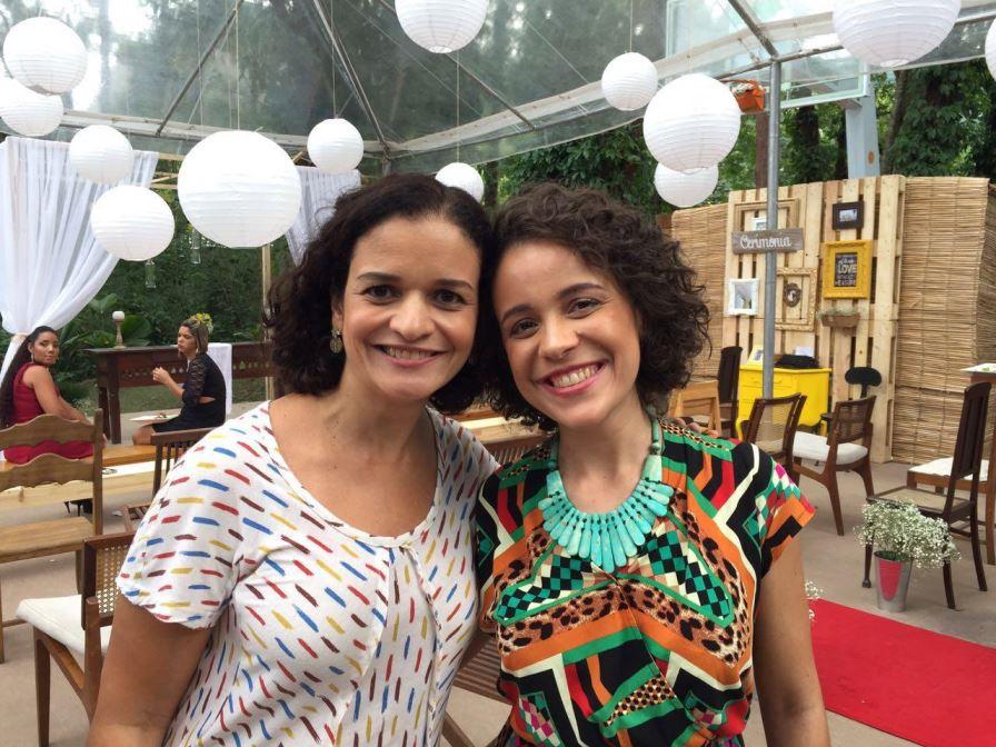 Patricia Marinho e Sammia Ferreira no É de Casa da TV Globo