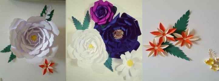 Flores de papel gigantes na decoração de casamentos