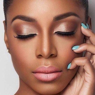 Muitas vezes maquiagem noiva natural pele negra - Casando Sem Grana MC39