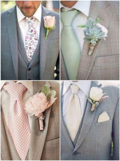 gravatas e lapelas coloridas