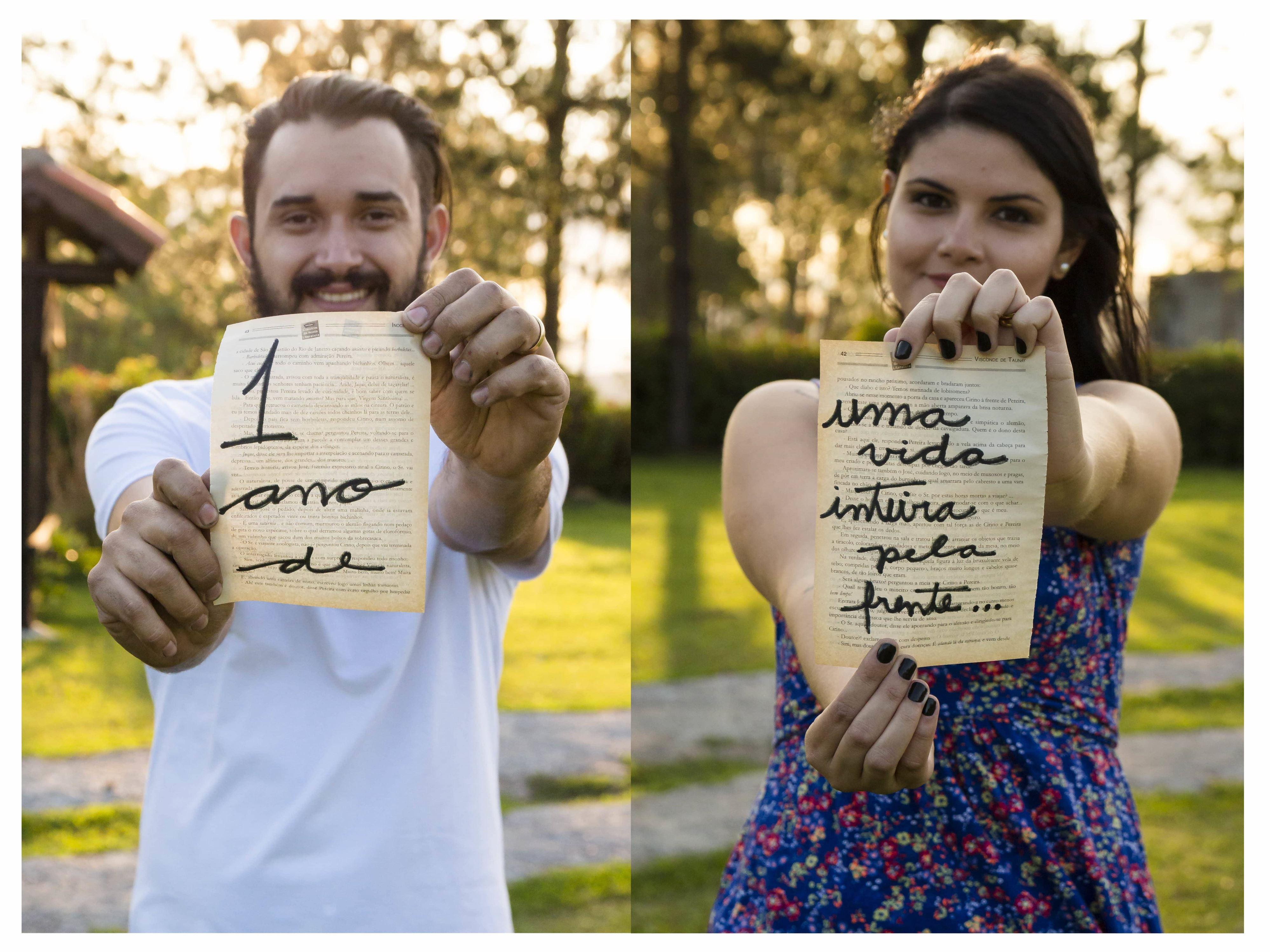 um ano casados
