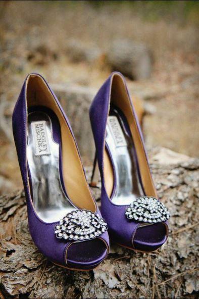 casamento roxo sapato