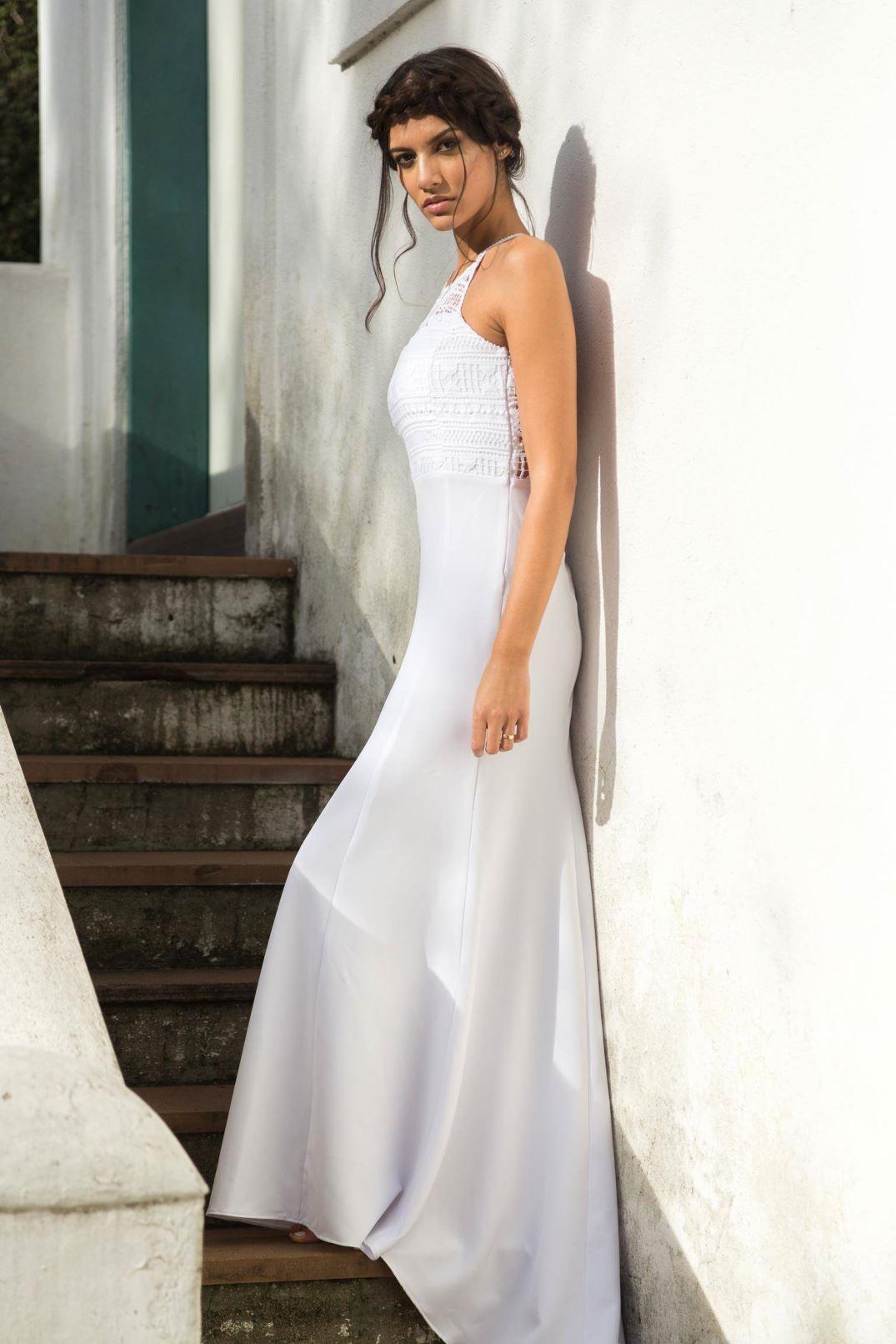 vestido de novia casamento praia