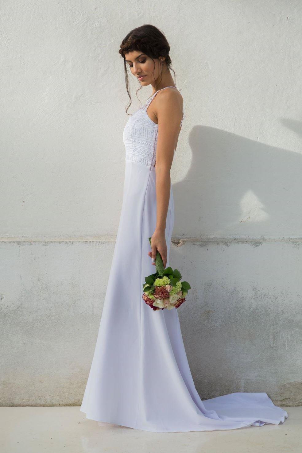 vestido casamento praia