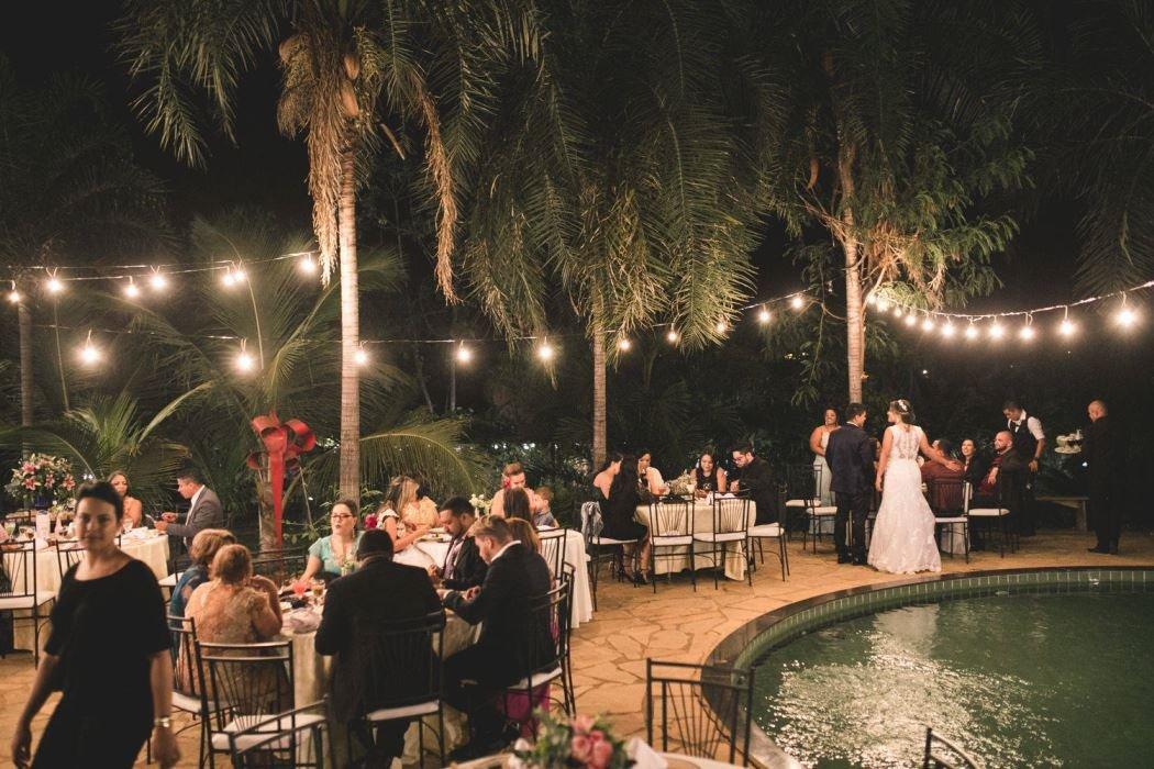casamento luzes externo noite