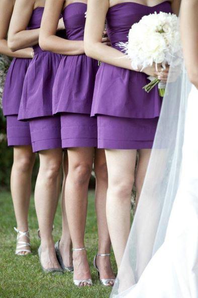 casamento roxo madrinhas vestido