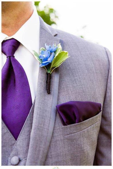 casamento roxo noivo