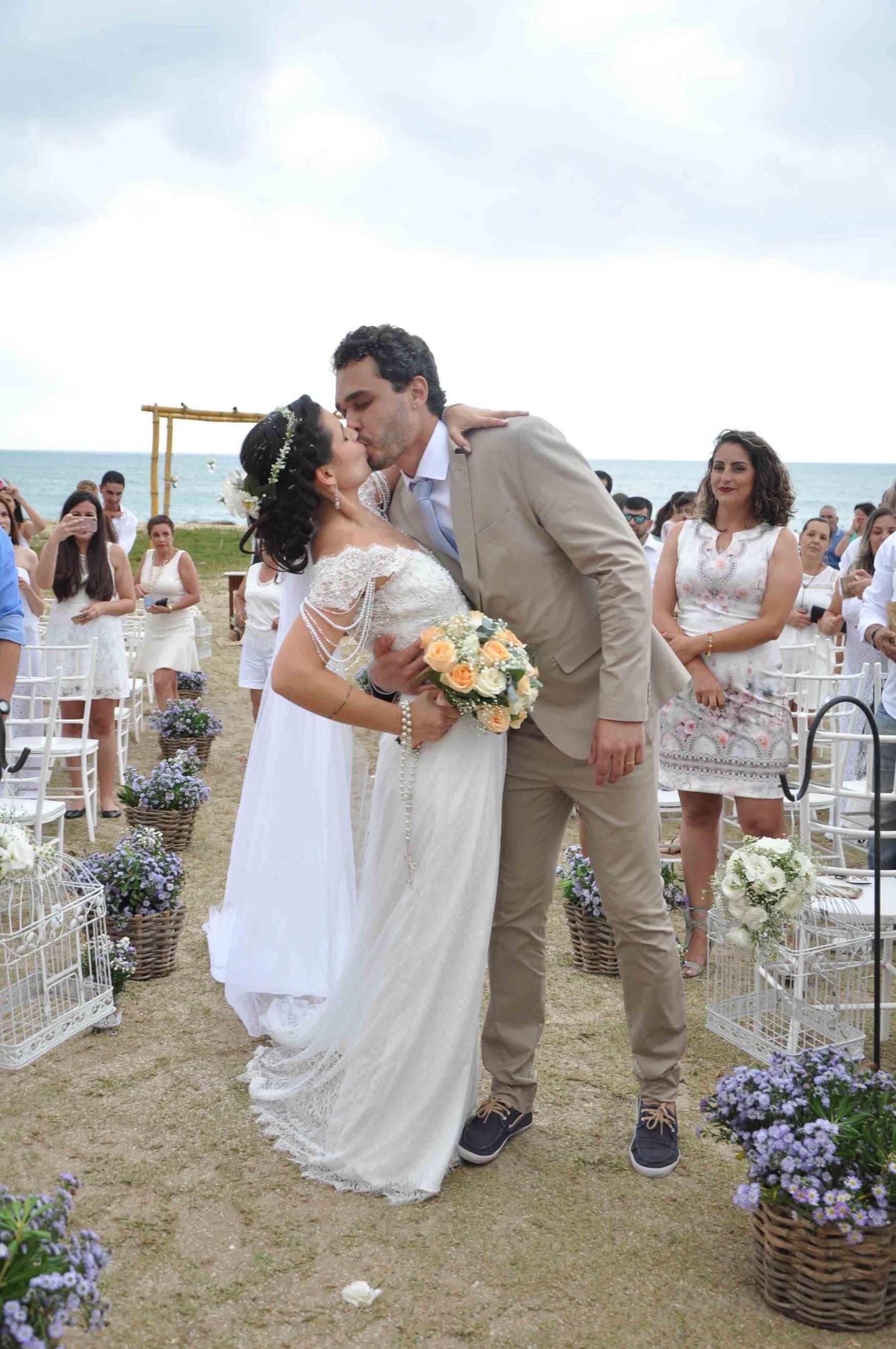 casamento simples na praia
