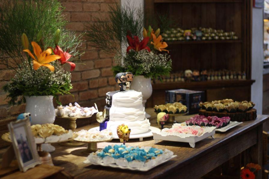 mesa casamento bolo geek nerd