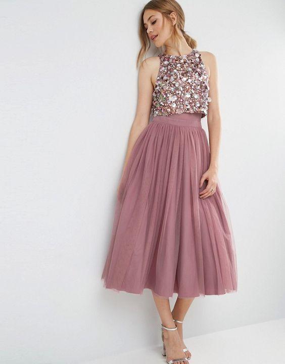 vestido de madrinha cropped